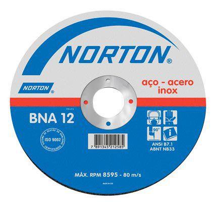 Disco de Corte Norton para Inox BNA12 115x1,0x22,2mm