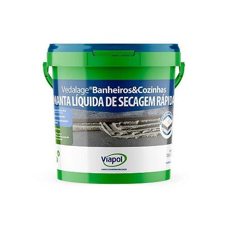 Impermeabilizante Viapol Vedalage para Cozinha e Banheiro Galão com 3 Litros