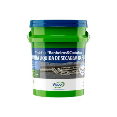 Impermeabilizante Viapol Vedalage para Cozinha e Banheiro Galão com 12 Litros