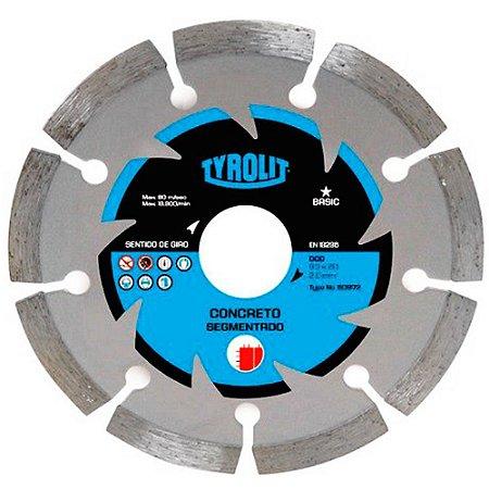 Disco de Corte Tyrolit Diamantado Basic Segmentado 110 x 20mm