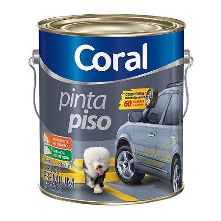 Tinta Pinta Piso Coral Premium Cinza Escuro Galão com 3,6 Litros