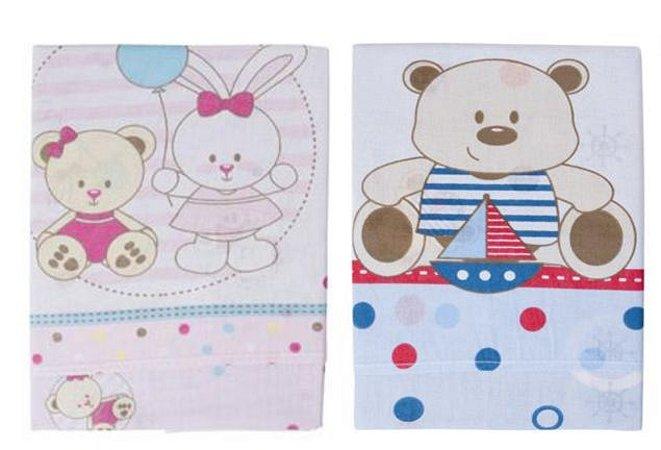 f9663245f7 Jogo Lençol Berço Americano 3 Peças Ursos Bambi - Baby Owl moda infantil