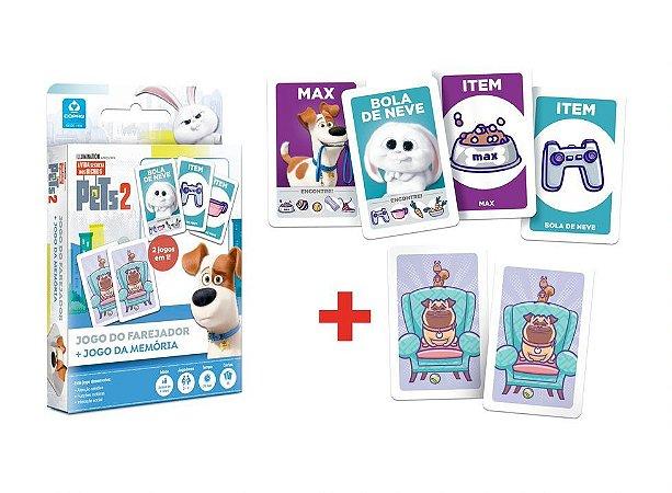 Pets 2: Jogo do farejador + Jogo da memória