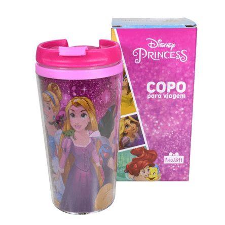 Copo Viagem Princesas Disney
