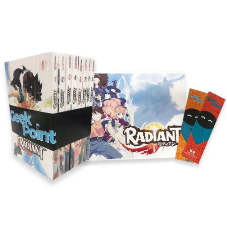 Kit Radiant Vol. 1 a 9 + Poster e 2 Marca Pagina