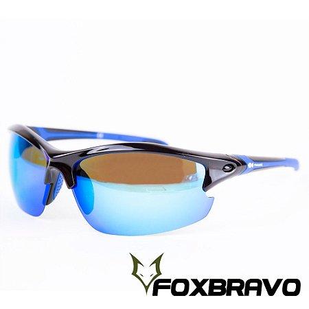Óculos pol. lente azul frame parc. Pindará