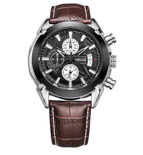 79d1751d6c8 Relógio Baogela Social luxo Com Pulseira De Couro - Original - Mundo ...