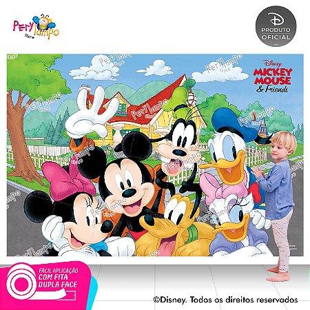 Painel festa Decorativo Mickey e Amigos - 2,20m x 1,45m