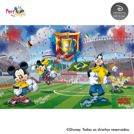 Painel de festa Decorativo - Mickey Futebol - 4,0m x 2,50m