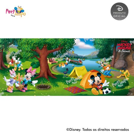 Painel sublimado em tecido Piquenique do Mickey - Tamanho 7,0m x 3,0m