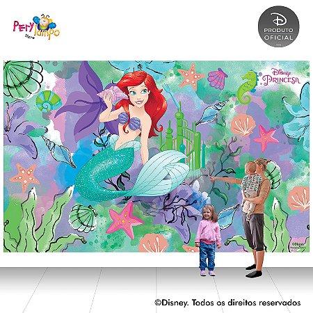 Painel Decorativo Pequena Sereia -Ariel Aquarela -4,0mx2,50m