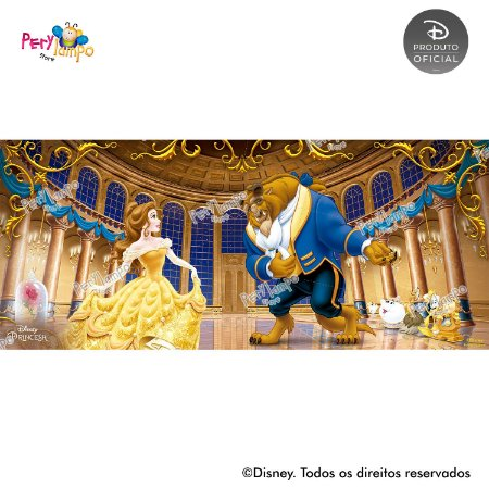 Painel festa Decorativo A Bela e a Fera - Baile - 7,0m x3,0m