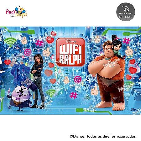 Painel de festa Decorativo - Wi-Fi Ralph - 4,0m x 2,50m