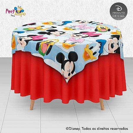 Toalha Mesa Sobrepor Cobre Mancha - Mickey e Amigos