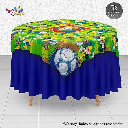 Toalha Mesa Sobrepor Cobre Mancha - Mickey Futebol