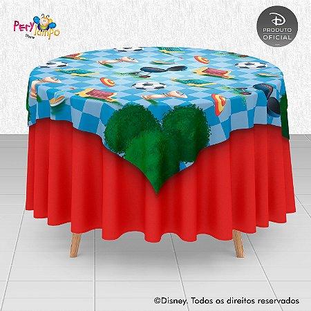 Toalha (Sobrepor) em tecido sublimado - Piquenique do Mickey - 1,40 x 1,40m