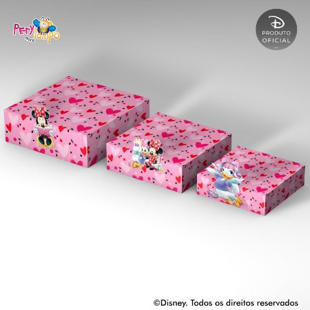 Kit Suportes Bandejas Decorativa - Quarto da Minnie
