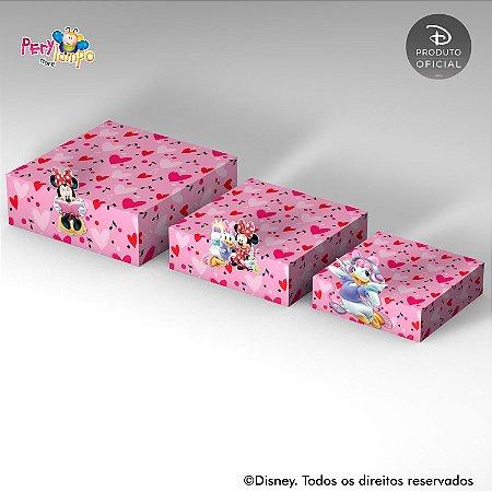 Kit 3 Suportes (Bandejas) para doces com aplique - Quarto da Minnie
