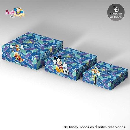 Kit Suportes Bandejas Decorativa - Mickey - Esportes