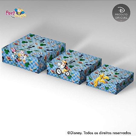 Kit Suportes Bandejas Decorativa - Piquenique do Mickey