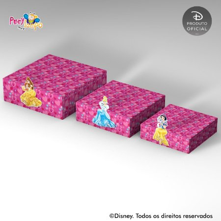 Kit Suportes Bandejas Decorativa - Princesas Disney & Pets