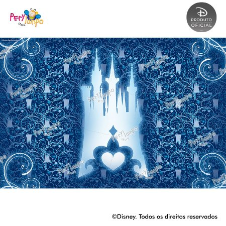 Lona Decorativa - Cinderela - Fada Madrinha - 3,0 x 2,0m