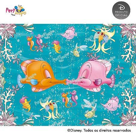 Lona Decorativa - Pequena Sereia - Ariel Peixes - 2,0 x 1,5m