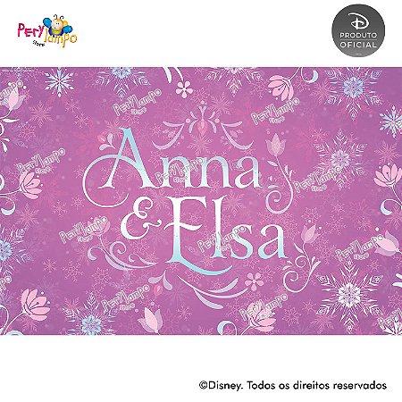 Lona Decorativa - Frozen Rosa - 3,0 x 2,0m