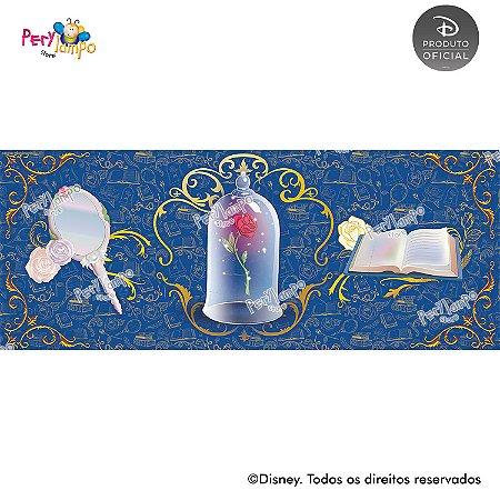 Lona decorativa - A Bela e a Fera - Baile - 5,0 x 2,0m