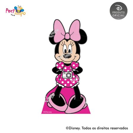 Kit 4 displays de mesa - Minnie Arco-Íris