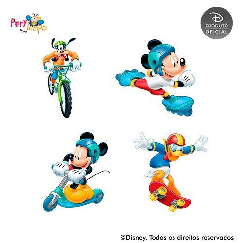 Kit 4 displays de mesa - Mickey - Esportes