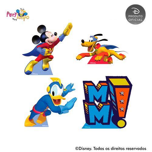 Kit 4 displays de mesa - Mickey Super Heróis