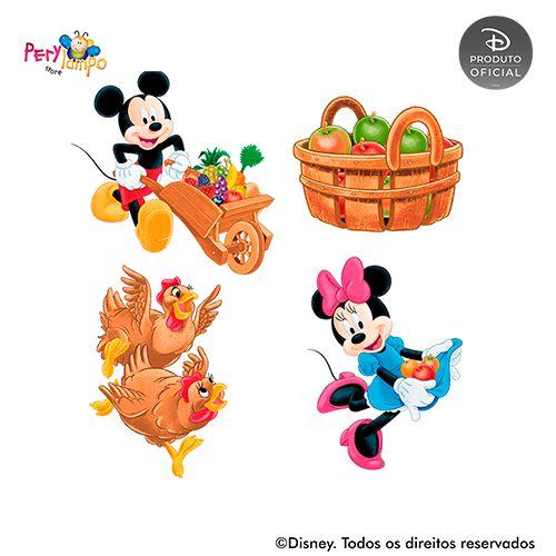 Kit 4 displays de mesa - Mickey - Fazendinha do Mickey