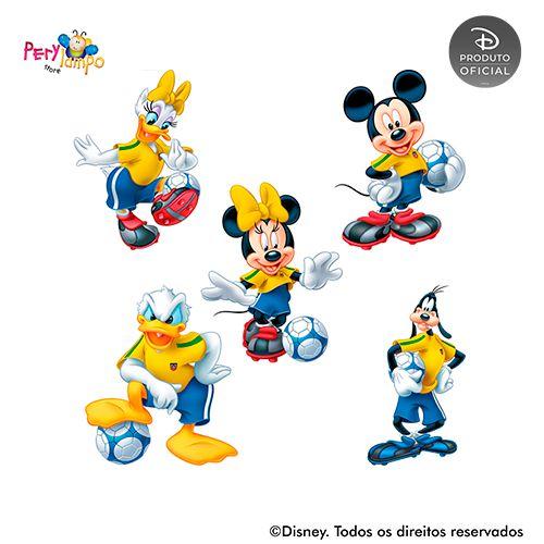 Kit 5 displays de mesa - Mickey Futebol