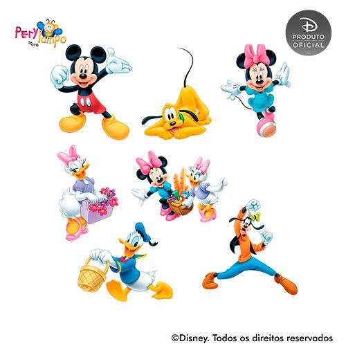 Kit 7 displays de mesa - Piquenique do Mickey