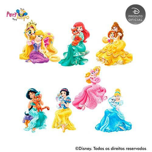 Kit 7 displays de mesa - Princesas Disney e Pets