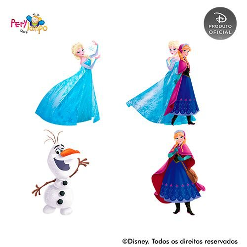 Kit 4 displays de mesa - Frozen - Rosa