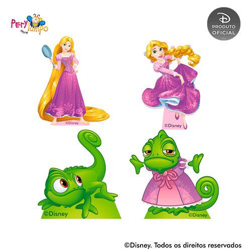 Kit 4 displays de mesa - Enrolados - Rapunzel - Aquarela