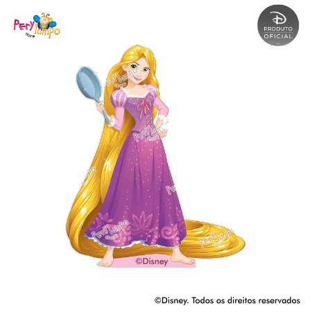 Kit 4 displays de mesa - Enrolados - Rapunzel - Aquarela