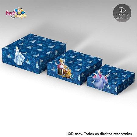 Kit 3 Suportes (Bandejas) para doces com aplique - Cinderela - Ratinhos