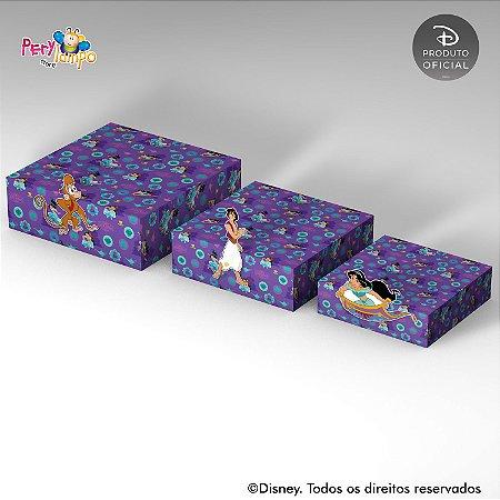 Kit Suportes Bandejas Decorativo - Aladdin Jasmine - Desenho
