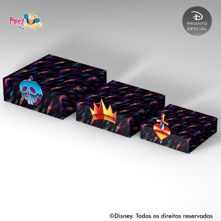 Kit Suportes Bandejas Decorativa -  Vilões da Disney