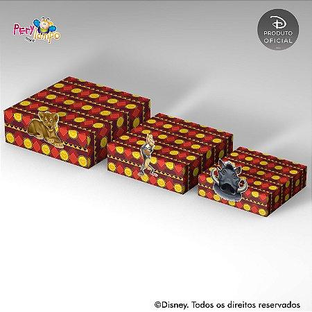 Kit 3 Suportes (Bandejas) para doces com aplique - O Rei Leão - Live Action