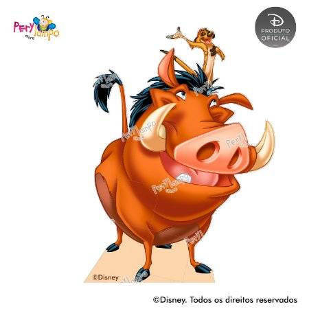 Display Totem de Chão - O Rei Leão - Clássico - Timão e Pumba