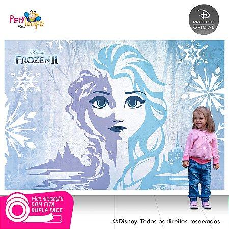 Painel Festa Decorativo Frozen 2 - Elsa Neve - 2,20m x 1,45m
