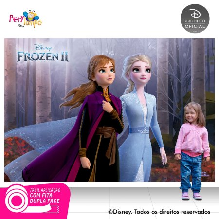 Painel Festa Decorativo Frozen 2 - Floresta - 2,20m x 1,45m