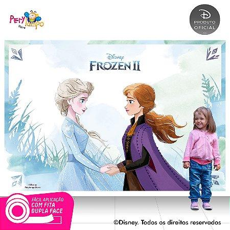 Painel Festa Decorativo Frozen 2 - Aquarela 3 - 2,20m x1,45m