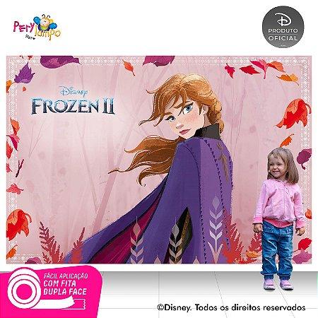 Painel Decorativo Frozen 2 - Aquarela Anna - 2,20m x 1,45m