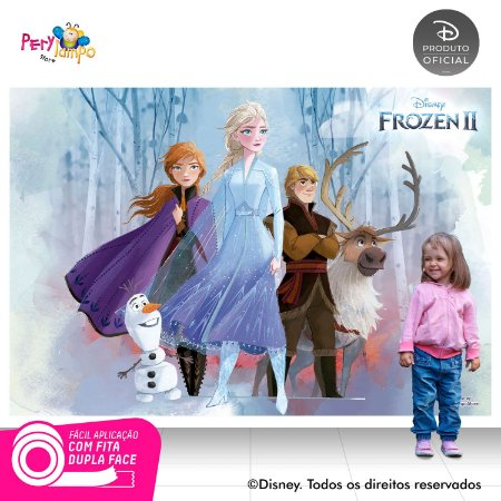 Painel De Festa Decorativo Frozen 2 - Turma 1 - 2,20m x 1,45m
