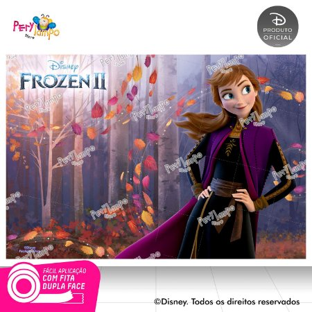 Painel Decorativo Frozen 2 - Anna Sensações - 1,45m x 1,00m